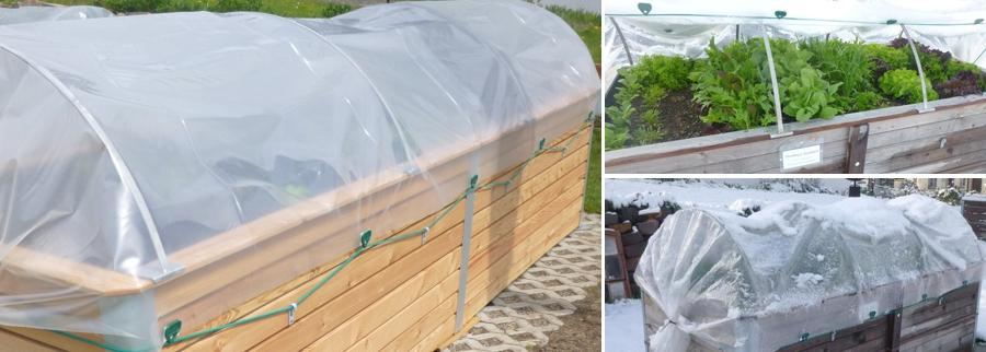 Folientunnel für Hochbeete schützt das Gemüse vor Frost