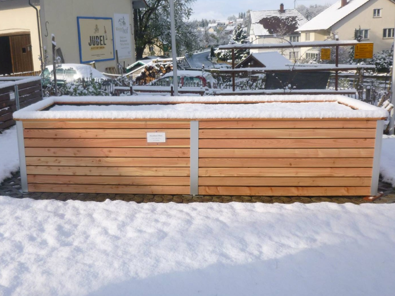 Hochbeet im Schnee