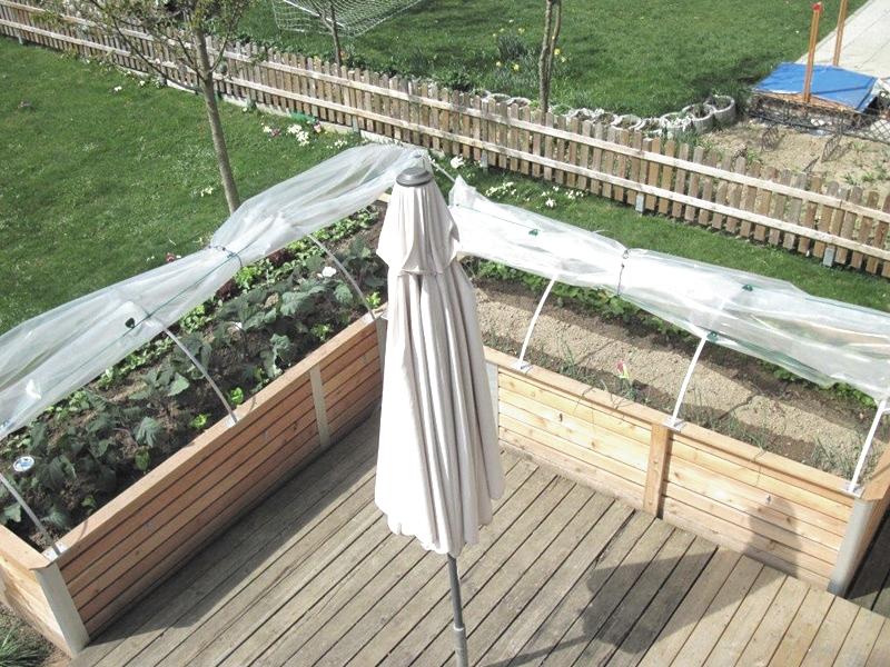 Hochbeet Terrassenbegrenzung
