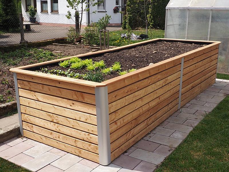 Hochbeet Maxi von Hochbeet Huchler aus Holz. Montagefertig als Bausatz. Kostenlose Lieferung.