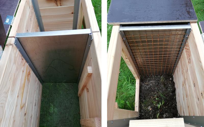 Wurmkomposter zwei Kammersystem Hochbeet-Huchler